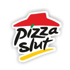 Pizza Slut Vinyl Sticker - VAG DUB- 100mm x 100mm